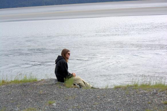 Josh Waiting on the Bore Tide
